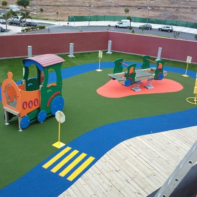 Los pavimentos para parques infantiles