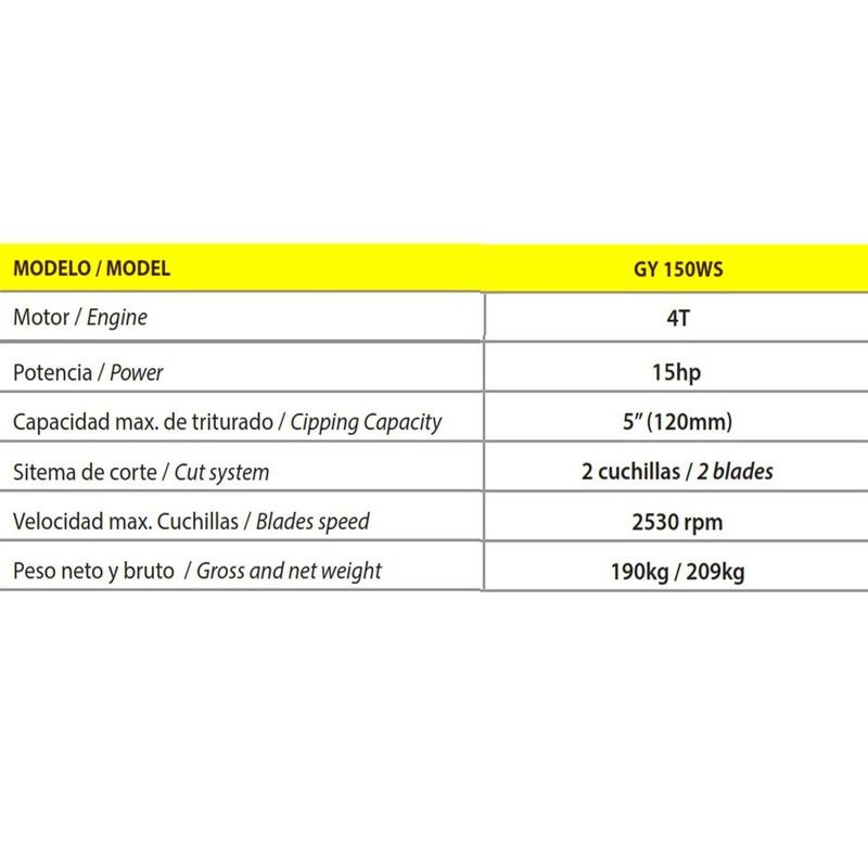 Biotrituradora Goodyear GY150WS 15HP arranque electrico: Productos y servicios de Maquiagri