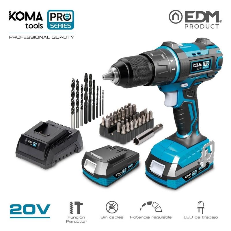 Kit taladro KOMA Pro Series tools 20V: Productos de Recambios Morales