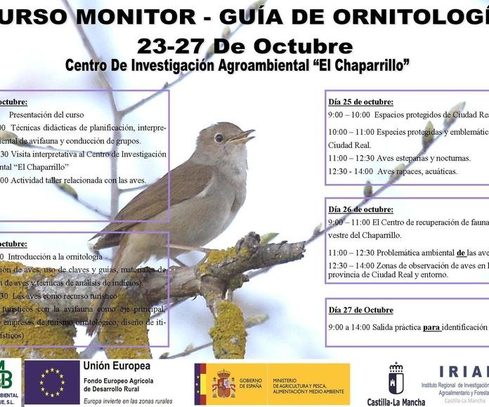 PROGRAMACION CURSO GRATUITO MONITOR- GUIA DE ORNITOLOGIA