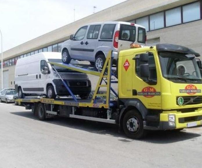 Grúas para furgones y camiones medianos: Grúas  de Grúas Marcos