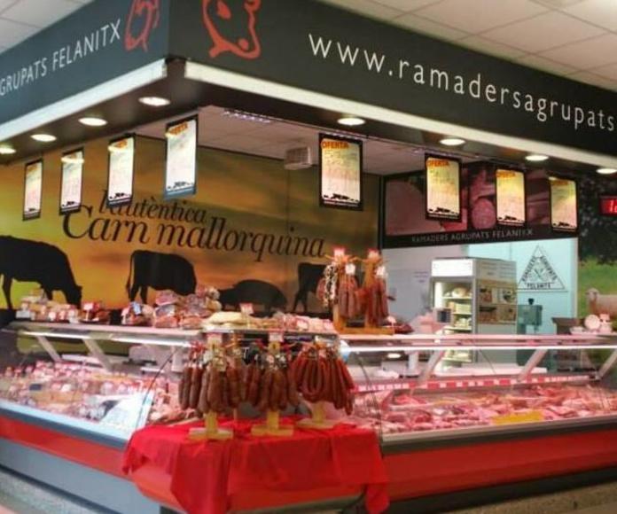 Carnicería en el Lidl Aragón en Palma de Mallorca