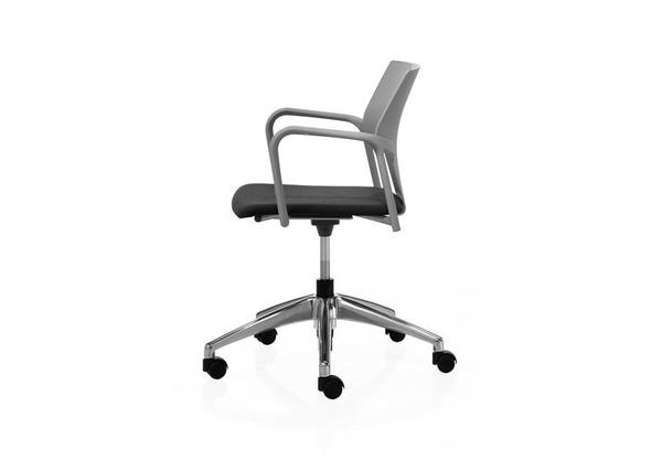silla evelin giratoria con brazos (opcion asiento tapizado)