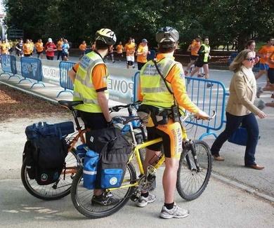 Ángeles en bici
