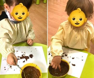 Pintar con cacao!