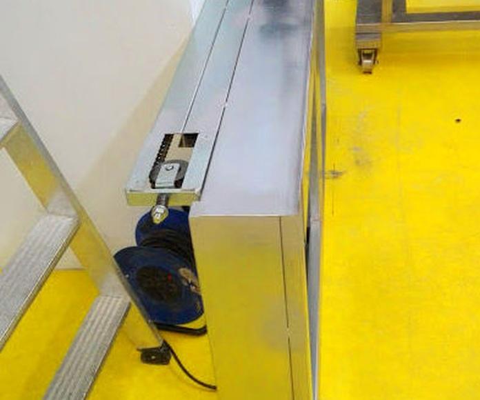 Compuerta guillotina automática contra incendios