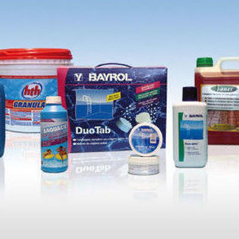 Productos químicos: Productos y servicios de Piscinas Castilla - Construcción y Rehabilitación