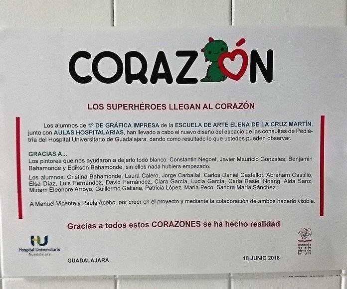 DECORACIÓN DE LAS CONSULTAS DE PEDIATRÍA DEL HOSPITAL DE GUADALAJARA