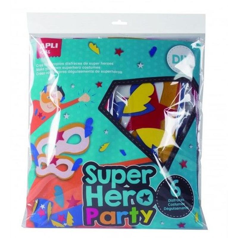 Super Heroes Party 6 Disfraces de Super Heroe Apli 15018 8410782150183