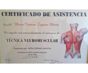 Titulación para la técnica neuromuscular