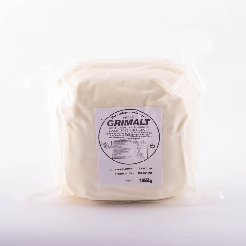 Queso Grimalt tierno sin sal  0,250 Kg:  de Ramaders Agrupats