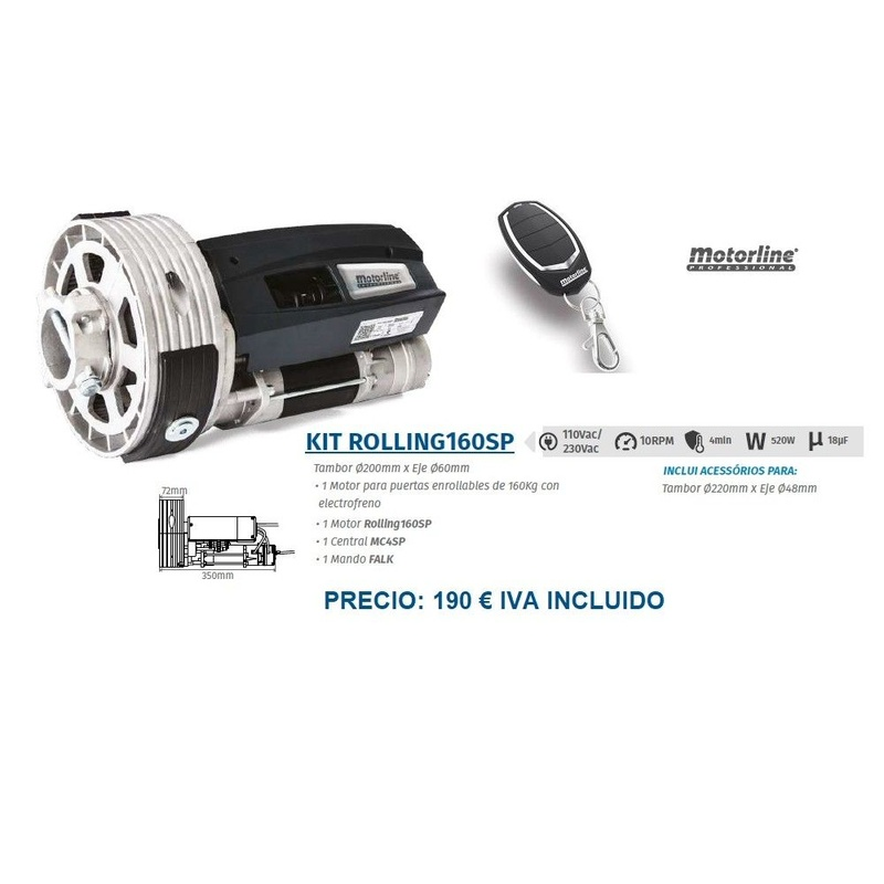 Kit Rolling160SP: Servicios de Puertas automáticas Odiel