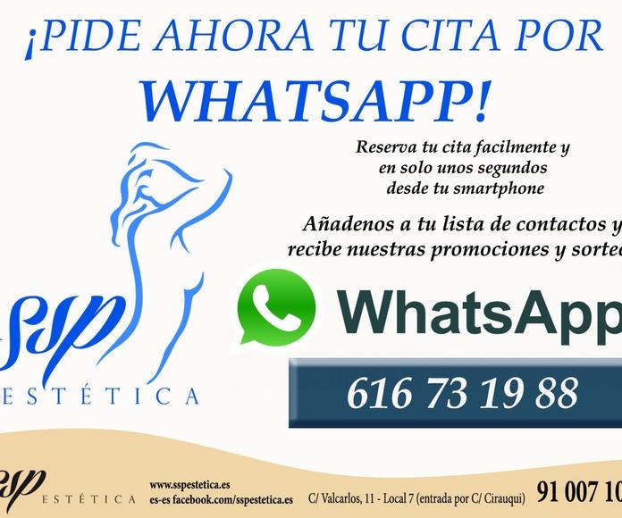 Pide Ahora tu cita por Whatsapp