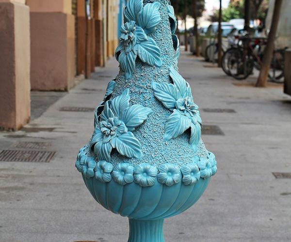 Espectacular lámpara de Manises marca Bondia