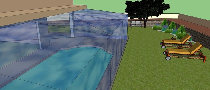 Jardín de diseño en 3D