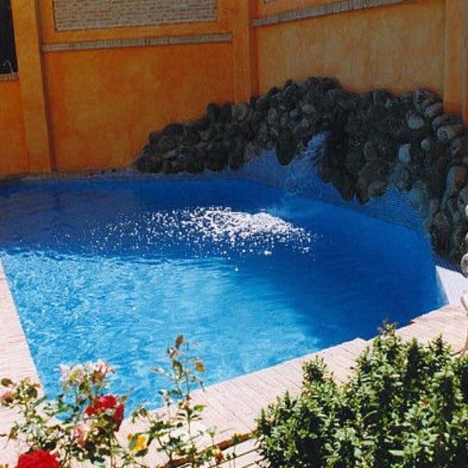 El uso de alguicidas y floculante en las piscinas