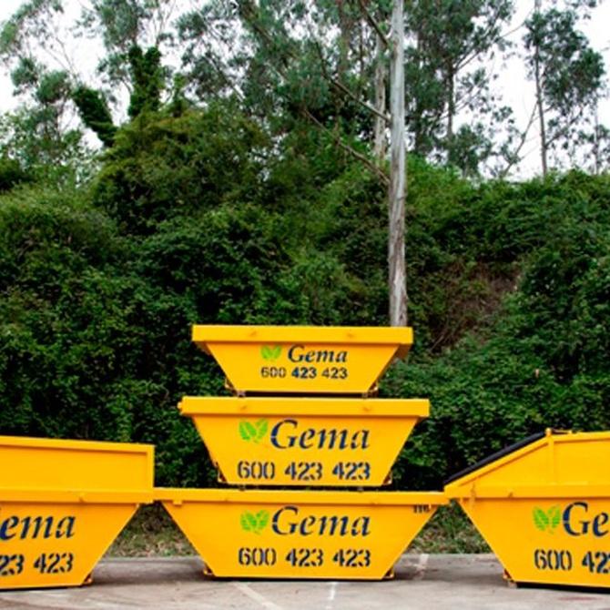 La categorización de los residuos de obra