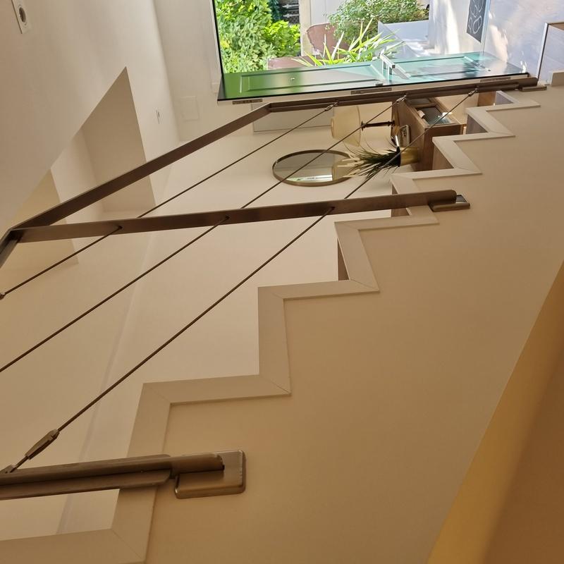 Barandilla de acero inoxidable con cables tensores:  de Icminox