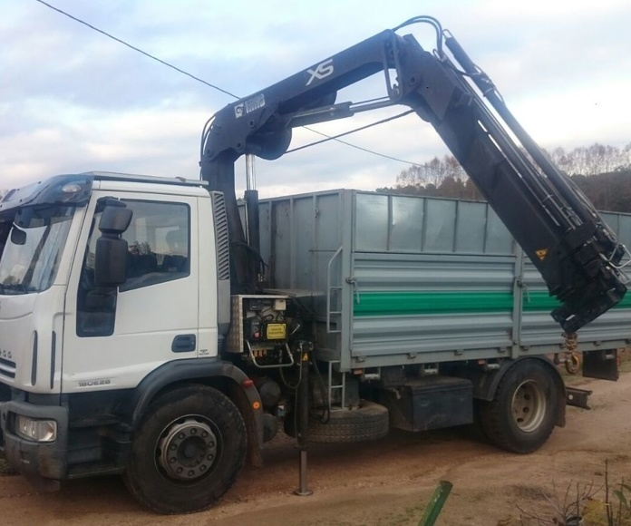 camion grua volquete iveco con pluma hiab 122 d