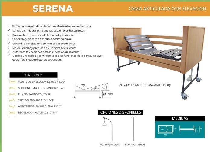 Cama Articulada Serena: TIENDA ONLINE de Ortopedia La Fama