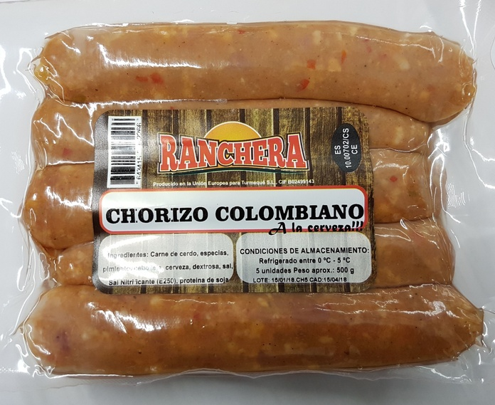 Chorizo Ranchera a la cerveza x 5 unidades: PRODUCTOS de La Cabaña 5 continentes