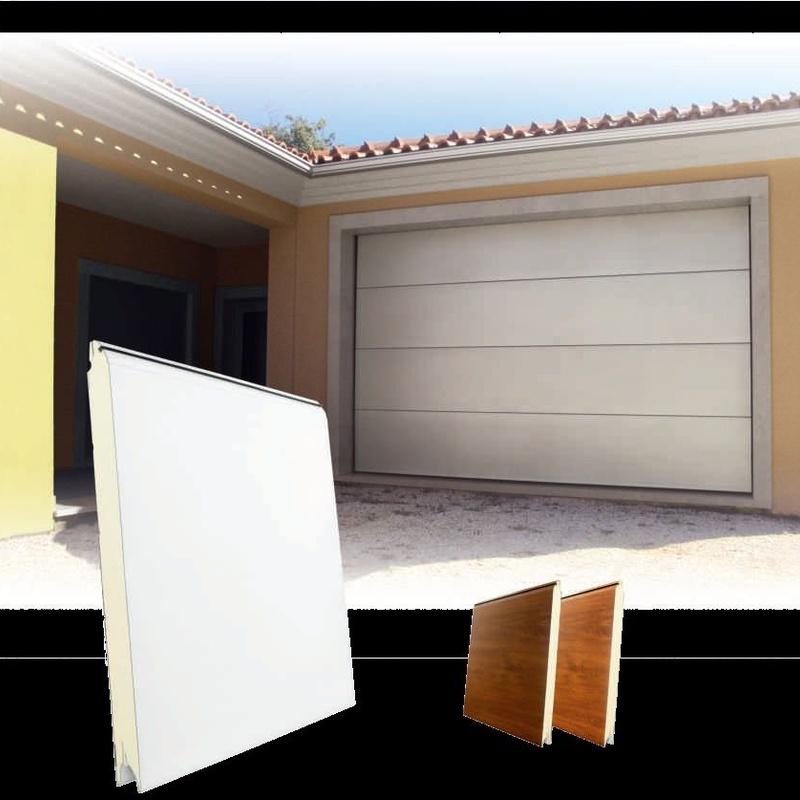 puertas de garaje seccional lisa