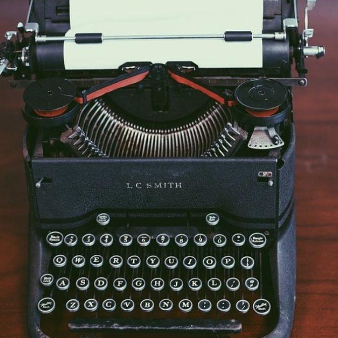 ¿Sabes cuándo se inventó la máquina de escribir?
