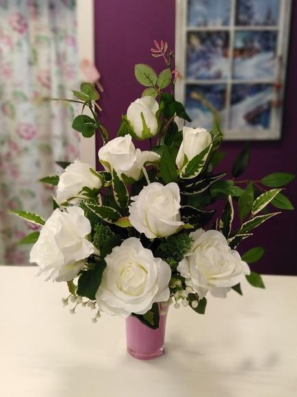 Centro artificial rosas: Nuestras flores de Bouquet Flores y Plantas