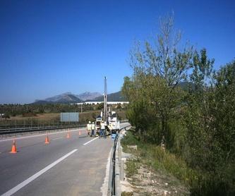 Geotécnia y sondeos: Servicios de Àrea de Geotècnia i Enginyeria de Terreny