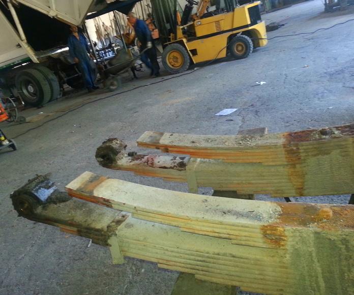 Reparación ballestas y montaje Ballestines.: Servicios de Talleres Reinón