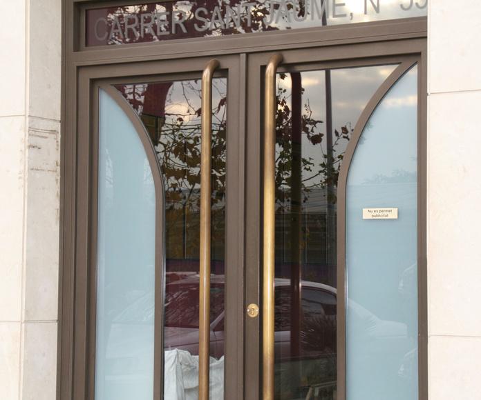 Puertas de hierro de dos hojas practicables