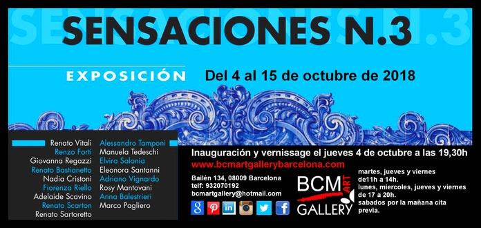 SENSACIONES 3: Exposiciones y artistas  de BCM Art Gallery