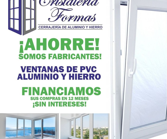 FABRICANTES DE VENTANAS PVC, ALUMINIO, HIERRO