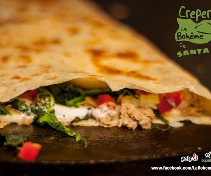 Crepes vegetarianas: Crepes y mucho más de Crepería La boheme