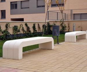Fabricación de piedras para el mobiliario urbano