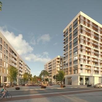 Obras conjunto residencial de 148 viviendas en Port Badalona