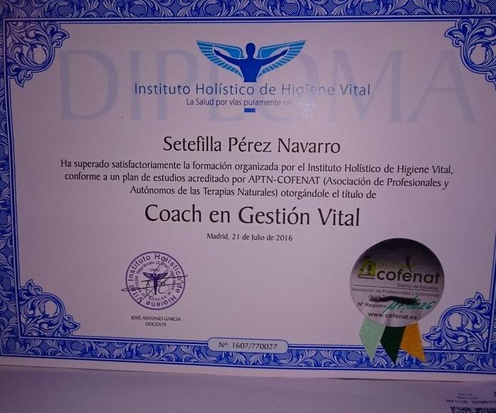 Titulada en Coach Gestión Vital