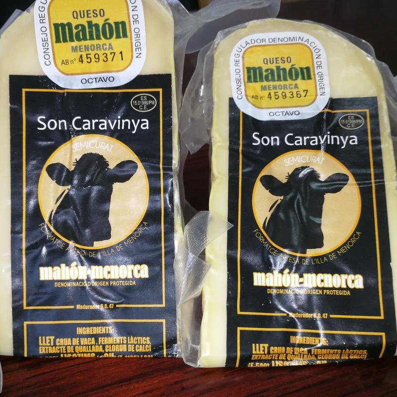 1/8 queso Son Caravinya semi 0,225-0,350 Kg: Productos y servicios de Ramaders Agrupats