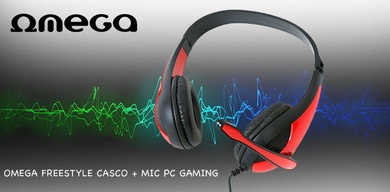 Omega Freestyle Casco + Mic PC Gaming