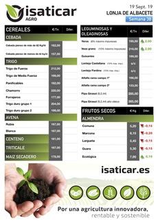 Lonja de Albacete 19.09.19 Cereales y Almendra