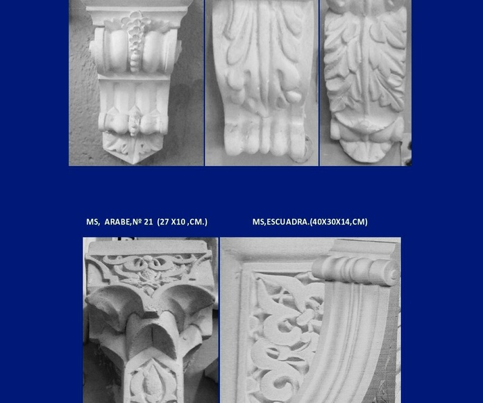 Ménsulas: Catálogo de I. De Escayolas Palomares