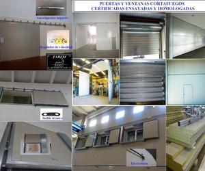 Puertas, ventanas y sistemas de cerramientos cortafuegos contra incendios en Valencia y Provincia