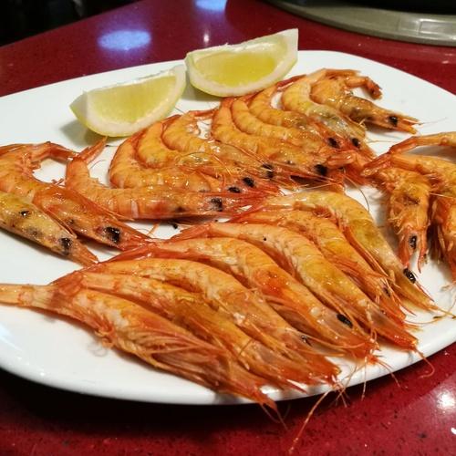 Restaurante Doña Elena en Las Tablas gambas a la plancha