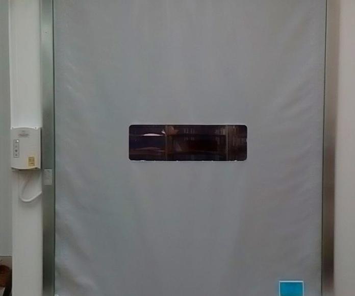 Puerta rápida de lona pvc enrollable autorreparable Farem Smart cubre motor