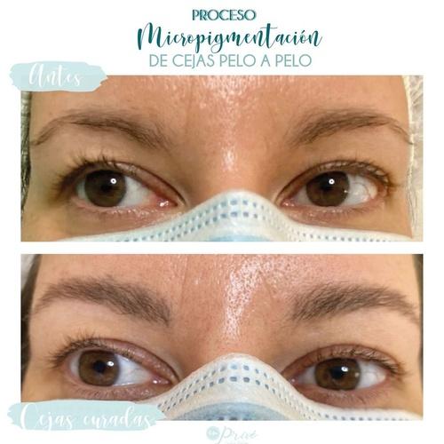 Micropigmentación de cejas Pelo a Pelo-Cejas Curadas