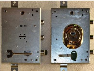 Cambio de sistema de cerradura de gorja a sistema de bombin