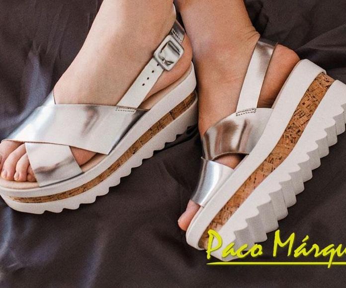 Sandalias metalizadas plataforma