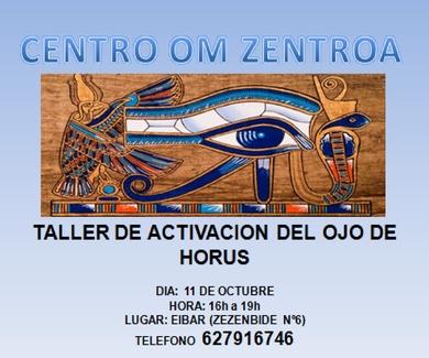 SISTEMA ENERGÉTICO:  ACTIVACION  DEL OJO DE HORUS