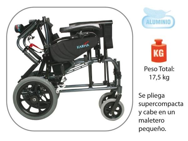 Silla de ruedas basculante de aluminio plegable Vip