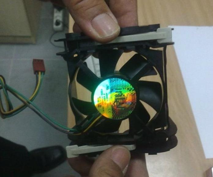 Ventilador del disipador de calor, después de su mantenimiento